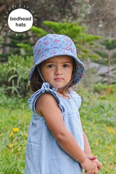 49ef26c1218 With a rating this Bedhead girls baby bucket hat in  Ava  chambray print is  perfect for summer! Bedhead Hats ...