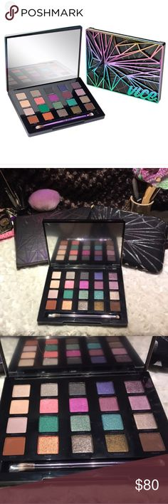 Urban Decay Vice 4 Palette NIB Never used. Comes with brush, bag, and box. Price is firm. Bundle for 20% off. NO OFFERS, NO TRADES. I video outgoing orders for our protection. I ship every day before 11:00AM Alaska time. Non-smoking and pet-friendly home. Urban Decay Makeup Eyeshadow