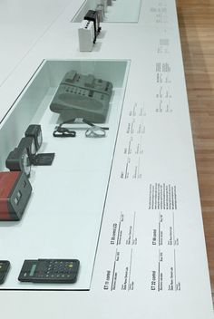Captioning SystemA flexible typographic system was devised to accomodate the 244 objects