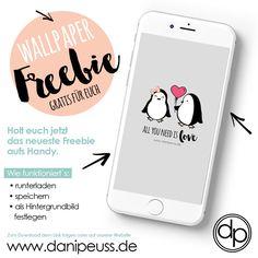 Februar Wallpaper Freebie für dein Smartphone von www.danipeuss.de - #freebie #handyhintergrund  #danipeuss