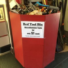 Looking for a certain size #tool? Take a look through our $1 tool bin!