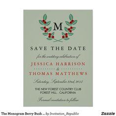 The Monogram Berry Bush Wedding Collection - Sage Card