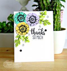 Thanks so much Card by Gayatri Murali #Cardmaking, #ThankYou, #CAS, #SimplyStamped, #TE, #ShareJoy