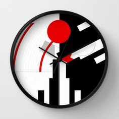 Buy black and white meets red Version 16 Wall Clock by Christine baessler. Worldwide shipping available at Society6.com. Just one of millions of high quality products available.