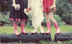 pink polkadot boots