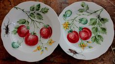 Made in Russia. Hand Painted Ceramics, Porcelain Ceramics, Ceramic Pottery, China Painting, Ceramic Painting, One Stroke Painting, Fruit And Veg, Plates And Bowls, My Works