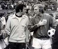 Legends: Moore stands alongside his great friend Franz Beckenbauer at the 1972 European Championship Football Icon, Retro Football, This Is England Film, Banks, Bobby Moore, 1966 World Cup, Germany Football, Football Jackets, International Football