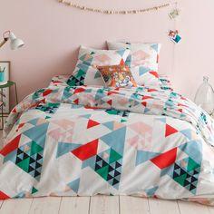Bedrukt dekbedovertrek in polykatoen Timer Cool Rooms, Deco, Duvet, Comforters, Blanket, Cool Stuff, Home, Design, Triangles