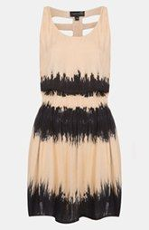 Topshop Cage Back Tie Dye Dress