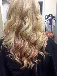 Wella/ Color Touch/ pink dream lowlights/pretty pastel hair color with bright blonde