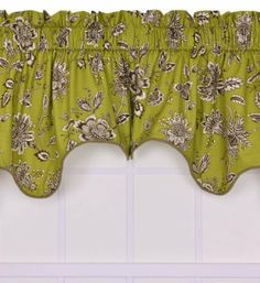 Ellis Curtain Jeanette Medium Scale Jacobean Lined Duchess Filler Valance Window Curtain, Green by Ellis Curtain. Save 7 Off!. $28.00