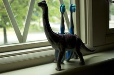 Love this upcycle dinosaur toothbrush holder (also there's a full list of dino recycling that's really good)