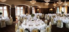 This room in Ashford Castle, Ireland is perfect for the wedding reception.