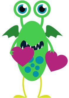Monster valentine clipart