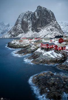 ~~Hamnoe - quiet roughness ~ winter, Lofoten, Norway by AXelpiX~~