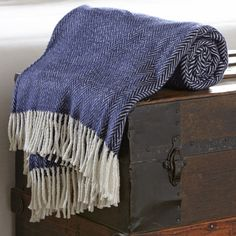 Serena Herringbone Throw | Layer on cozy warmth with this plush throw in a classic herringbone pattern.
