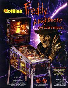 FREDDY A NIGHTMARE ON ELM STREET By GOTTLIEB NOS PINBALL MACHINE FLYER #nightmareonelmstreet #freddy