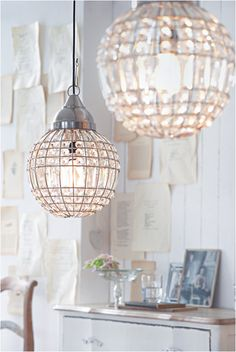 Hanging Lights. Pretty, special lighting makes such a difference in a space, yes?
