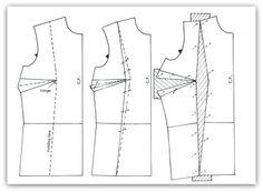Pattern Adjustments on shoulder, Bust, Darts, Neck Line, Moving Darts......