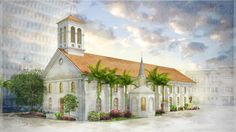 Architectural Illustration of Our Lady of Peace in Honolulu, Hawaii