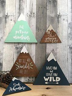 rustic nursery décor, woodland theme nursery, nursery signs, deer antler décor, arrow décor YOU PICK QUOTE
