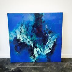 Brittany Lee Howard abstract blue painting