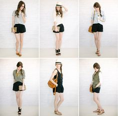 99a38c73a6 six ways to wear your black shorts Black Shorts Outfit