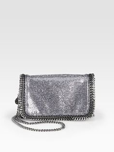 Stella McCartney Metallic Crossbody Clutch
