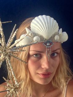 Winter Goddess Crown with Eye by SaltyFeathersDesigns on Etsy