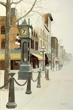 / Vancouver - Steam clock in Gastown Ottawa, Western Canada, Canadian Art, Toronto, Most Beautiful Cities, Destinations, Pacific Northwest, British Columbia, Night Life