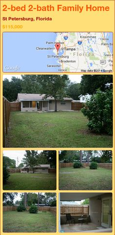 2-bed 2-bath Family Home in St Petersburg, Florida ►$115,000 #PropertyForSale #RealEstate #Florida http://florida-magic.com/properties/84220-family-home-for-sale-in-st-petersburg-florida-with-2-bedroom-2-bathroom