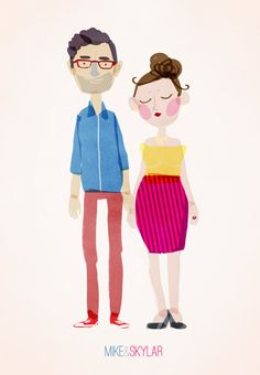Custom couple portrait / cartoon style / digital file