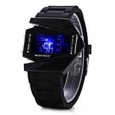 New Fashion Star Wars Men Watch Male LED Digital Future Casual Stopwatch Rubber Watchband Wristwatch Relogio Masculino PL154