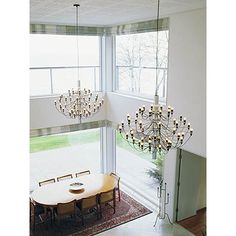 Mod 2097 Chandelier & FLOS Lighting front entry - http://www.olighting.com/flos.html