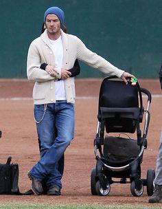 David Beckham, gotta love a soccer Dad!