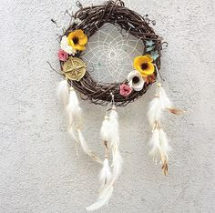 SALE Traveler's Dream Catcher Door Wreath by ZenLunaticNYC
