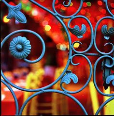 color through the blue gate