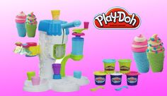Play Doh Ice Cream Shop - Sweet Shoppe Perfect Twist Ice Cream with Disn...