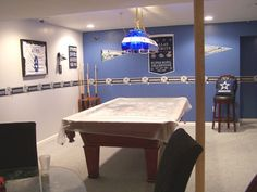 Dallas Cowboy Basement | Basement   Bedroom Designs   Decorating Ideas    HGTV Rate My Space