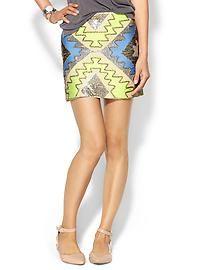 Endless Rose Sequin Geo Mini Skirt