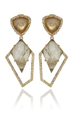 Doublet Drop Labradorite Kite Earrings