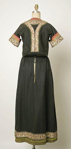Wedding ensemble Date: 19th century Culture: French (Breton peoples) Medium: (a, b) wool (c, d, e, l) cotton (f, g) silk (o, p) leather