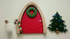 Christmas Elf Fairy Door by AcreFairyDoors on Etsy