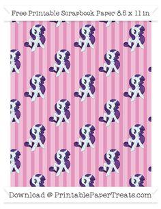 Pastel Bubblegum Pink Striped Large  Rarity Pattern Paper