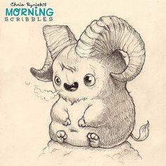 "Billy says, "" Bahhhhhhhh"". #morningscribbles   Flickr - Photo Sharing!"