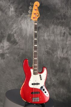 1971 Fender JAZZ BASS custom color CANDY APPLE RED