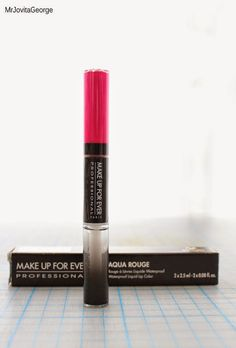 MAKE UP FOR EVER Aqua Rouge water proof liquid lip color swatch & review (No.16)