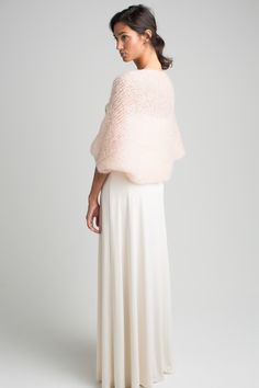 soft and tender bridal-bolero. 90 cm wide colours: ivory, nude (as shown) material: mohair, polyamid und Bridal Bolero, Hey Love, Wedding Shawl, Endless Love, Mohair Sweater, Pullover, Couture, Bridal Accessories, Lace Skirt
