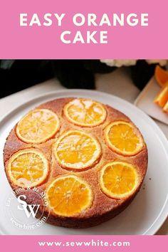 Orange Drizzle Cake - easy orange juice bake - The Perfect Spring Cake Orange Drizzle Cake, Orange Juice Cake, Lemon Drizzle Cake, Donut Recipes, Sweets Recipes, Cake Recipes, Squash Cakes, Orange Ice Cream, Lime Cake