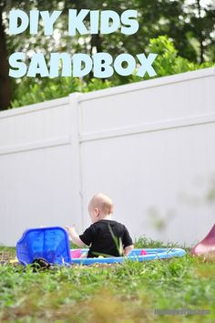 DIY Kids sandbox out of an old baby pool #upcycling #outdoors